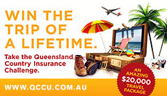 Win the trip of a lifetime with Queensland Country Credit Union