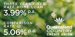 Three year fixed rate home loan for 3.99%